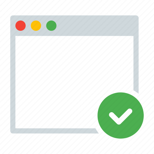 application, checkmark, done, interface, window icon