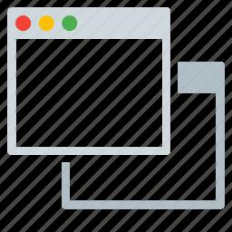 application, duplicate, interface, new, windows icon