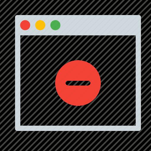 application, delete, interface, remove, window icon
