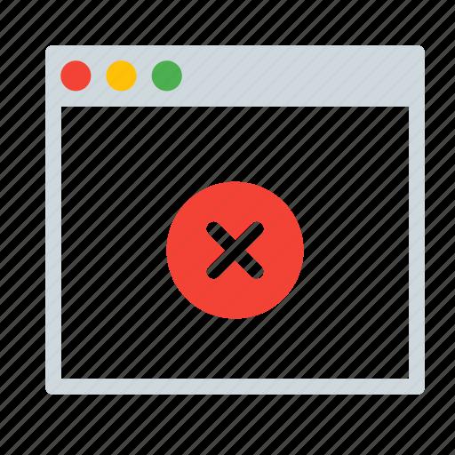 application, close, delete, interface, remove, window icon