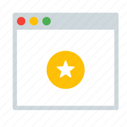 application, favorite, interface, star, window icon