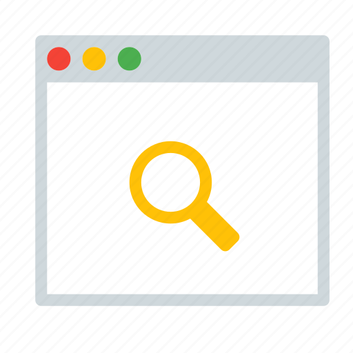 application, find, interface, search, window icon