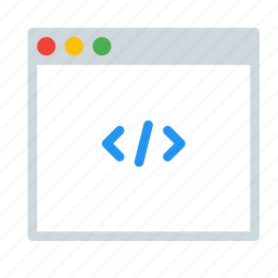 application, code, html, interface, programming, window icon