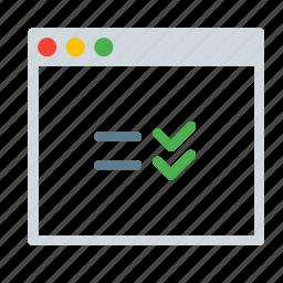 application, checklist, interface, reminder, task, window icon