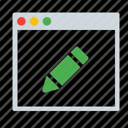 application, edit, interface, pen, window, write icon
