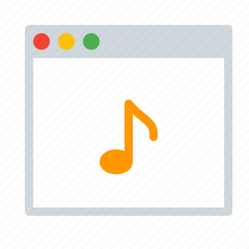 application, audio, interface, music, window icon