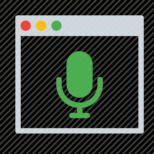 application, audio, interface, recorder, sound, window icon