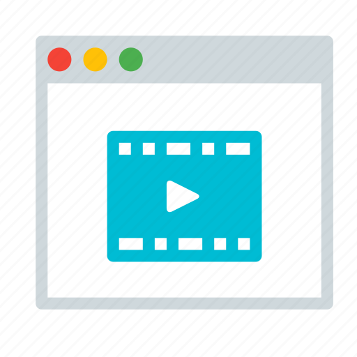 application, entertainment, interface, movie, video, window icon