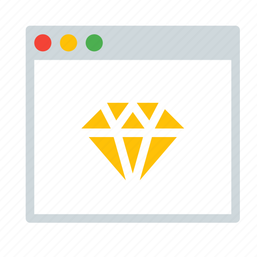 application, design, diamond, interface, sketch, window icon
