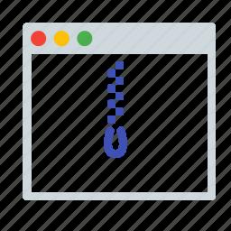 application, interface, rar, window, zip icon