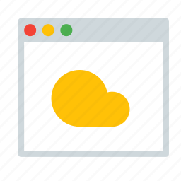 app, application, cloud, interface, window icon