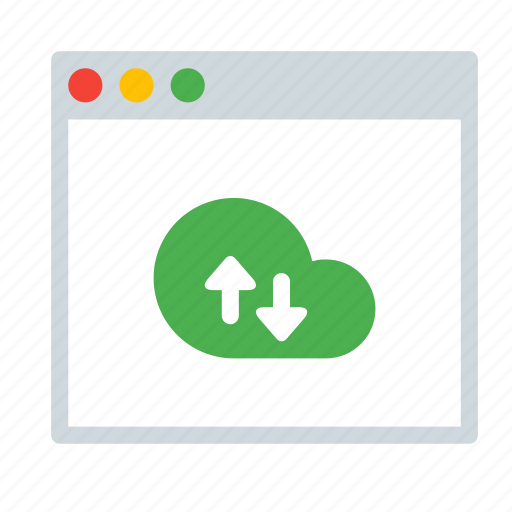 application, arrow, cloud, fetch, interface, sync, window icon