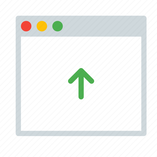 application, arrow, interface, up, window icon