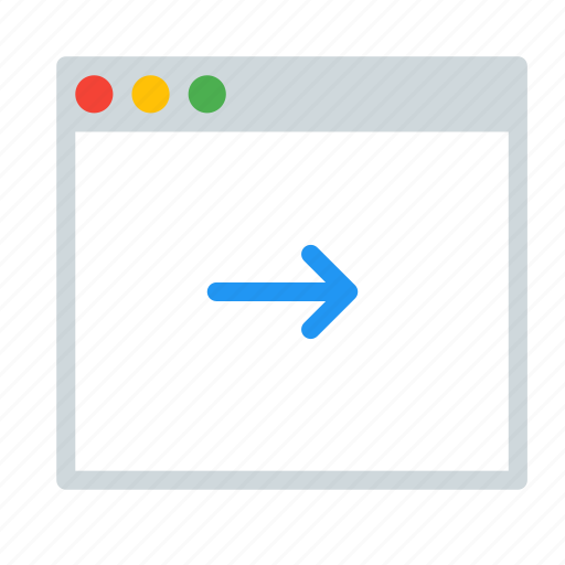 application, arrow, interface, next, window icon