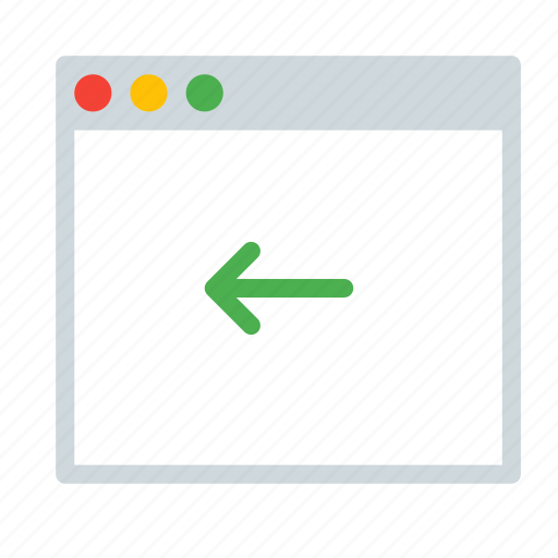 application, arrow, back, interface, window icon