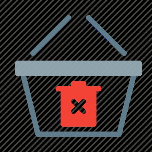 basket, buy, delete, shop, shopping, trash icon
