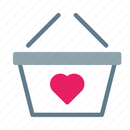 basket, buy, favorite, heart, shop, shopping icon