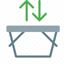 arrow, basket, buy, fetch, shop, shopping icon