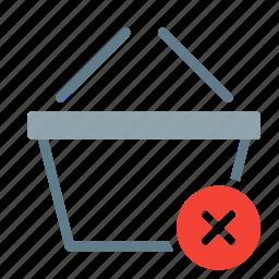 basket, buy, delete, remove, shop, shopping icon