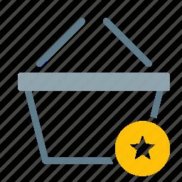 basket, buy, favorite, shop, shopping, star icon