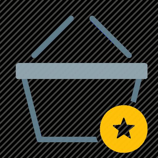 Basket, buy, favorite, shop, shopping, star icon - Download on Iconfinder