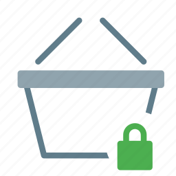 basket, buy, lock, secure, shop, shopping icon