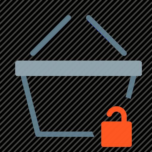 Basket, buy, secure, shop, shopping, unlock icon - Download on Iconfinder