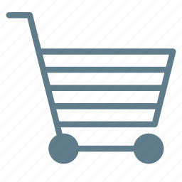 buy, cart, empty, shopping, trolley icon