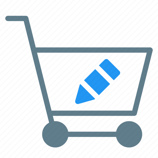 Buy, cart, edit, pen, shopping, trolley icon - Download on Iconfinder