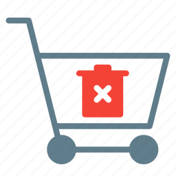 buy, cart, delete, shopping, trash, trolley icon
