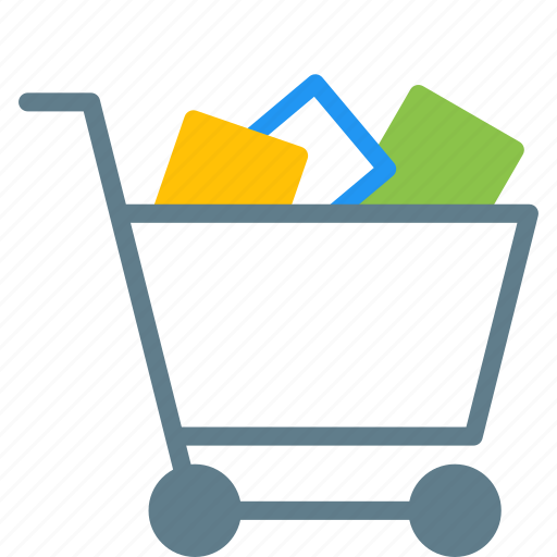 buy, cart, goods, shopping, trolley icon