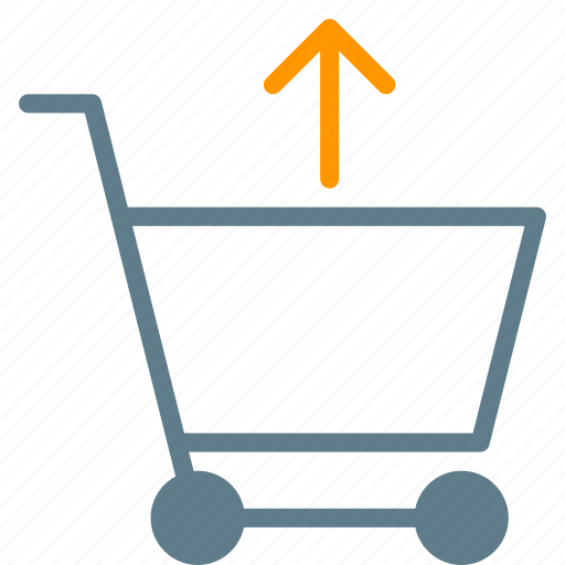 arrow, buy, cart, remove, shopping, trolley icon