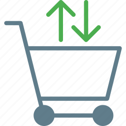 arrow, buy, cart, fetch, shopping, trolley icon