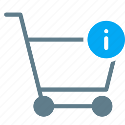 buy, cart, detail, info, shopping, trolley icon