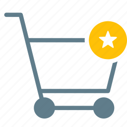 buy, cart, favorite, shopping, star, trolley icon