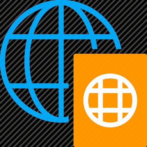global, passport, travel, visa, world icon