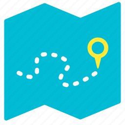 itinerary, journey, location, map, plan, travel icon