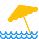 beach, ocean, outdoor, sea, summer, travel, umbrella icon