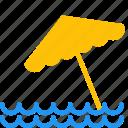 beach, ocean, outdoor, sea, summer, travel, umbrella