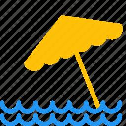 beach, ocean, outdoor, sea, summer, travel, umbrella icon