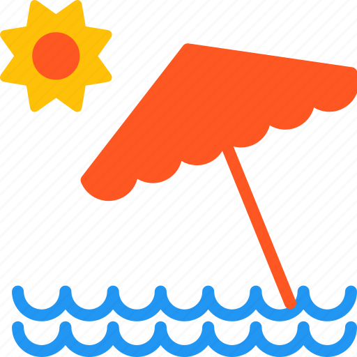 beach, outdoor, sea, summer, sun, travel, umbrella icon