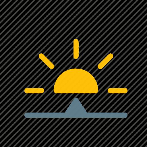 forecast, morning, sun, sunrise, weather icon