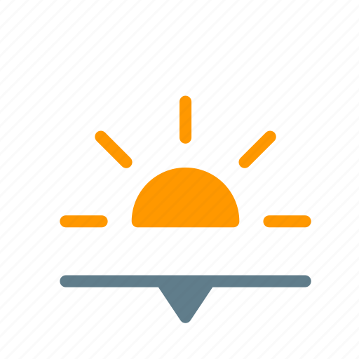 dawn, forecast, sun, sunset, weather icon