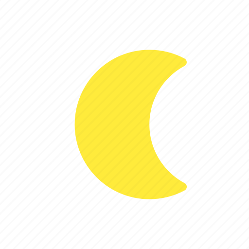 crescent, forecast, moon, night, waning, weather icon