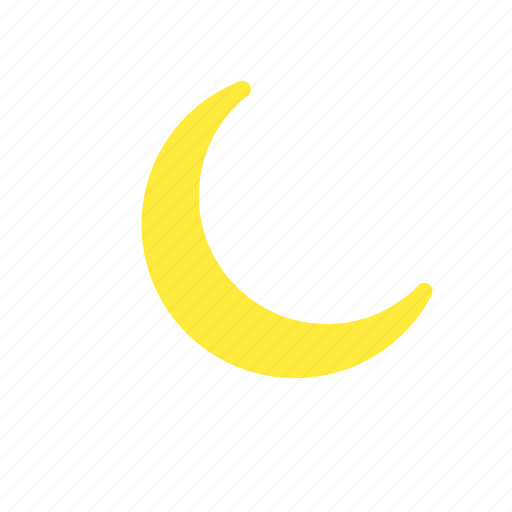 crescent, forecast, moon, night, waning, weather icon