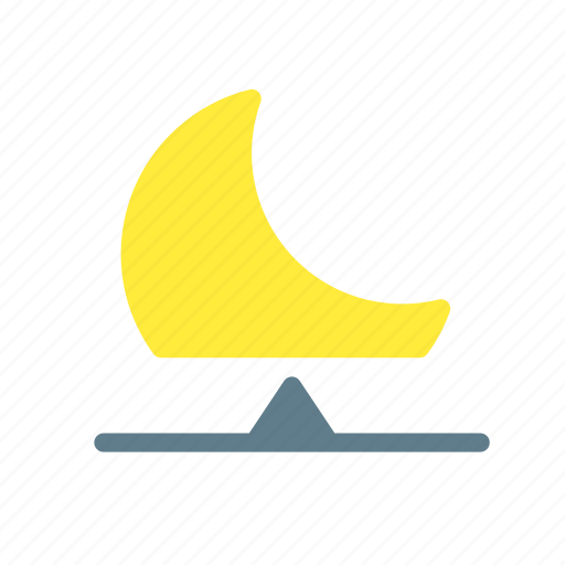 crescent, forecast, moon, night, rise, weather icon