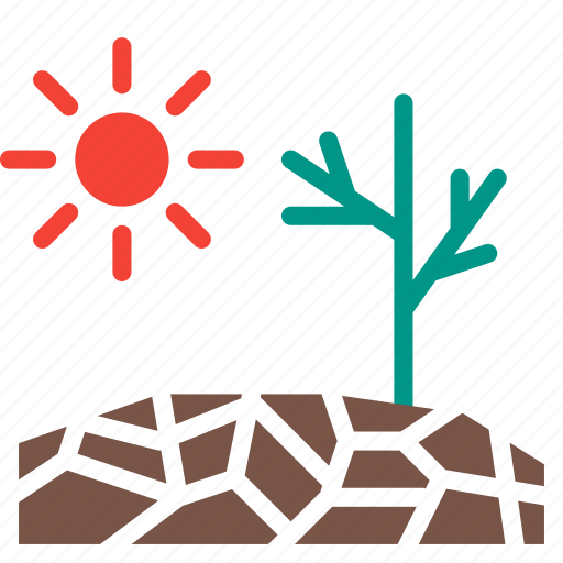 disaster, drought, forecast, sun, weather icon