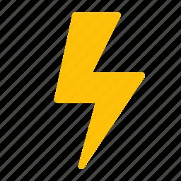 energy, forecast, lightning, storm, weather icon
