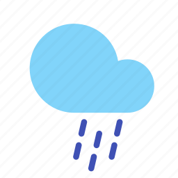 cloud, forecast, rain, shower, weather icon