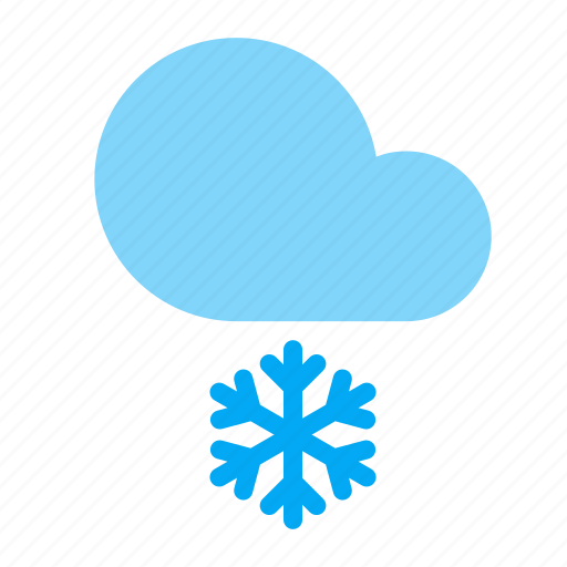 cloud, forecast, frosty, snow, snowflake, weather icon